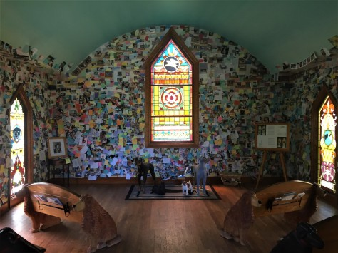 Dog Chapel interior, near St Johnsbury, VT