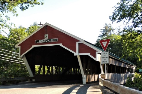 Jackson, NH covered bridge, built in 1876.