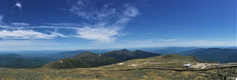 Panoramic view from the summit of Mt. Washington, NH