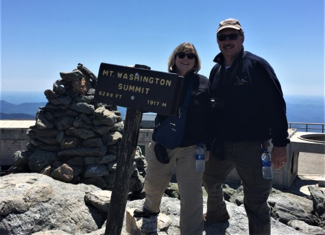 Jim and Diana at the summit of Mt. Washington.