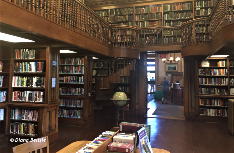 Interior of library in St Johnsbury, VT