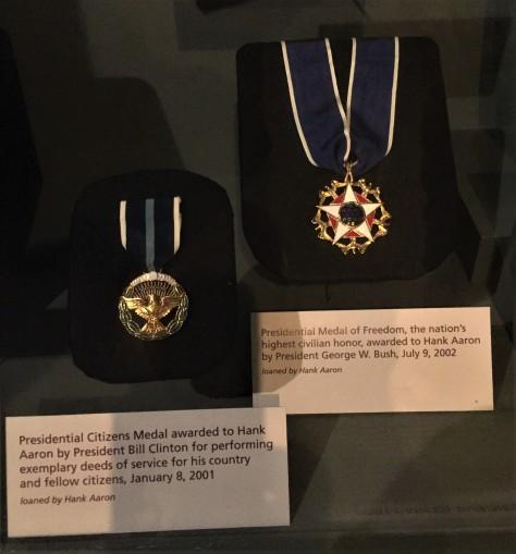 Hank Aaron medals