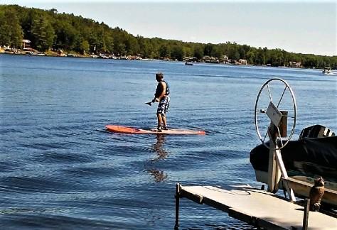 Jim paddleboarding