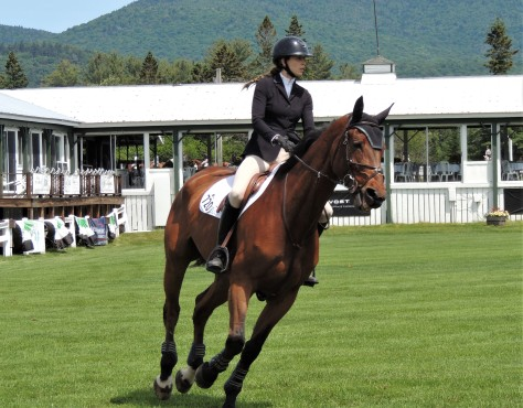Horse entering a jump at the Lake Placid Horse Show