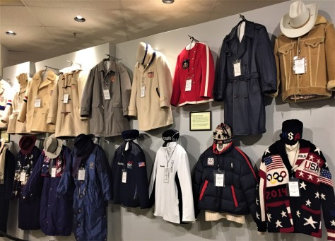 Uniforms from the US Olympic teams from the Winter Olympics over the years.
